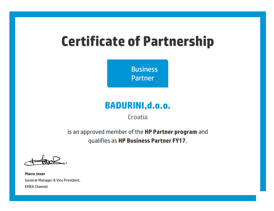 HP Partner - Business Partner!