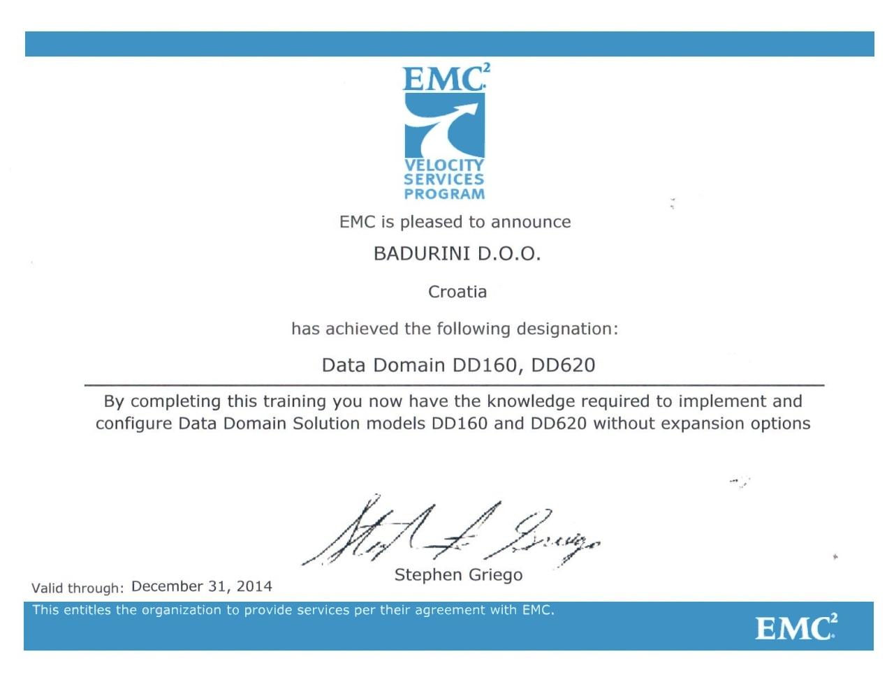 EMC2 Velocity Affilate Partner
